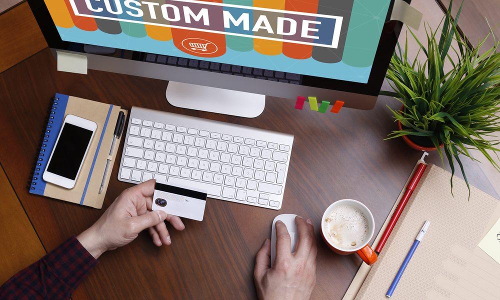 web designer making custom made website